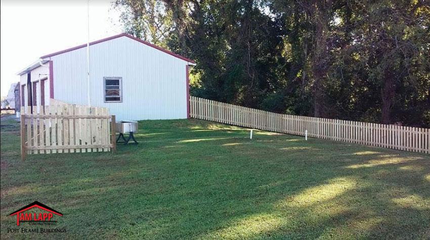 Wood Slat Fencing