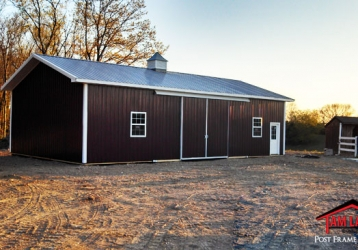 Agricultural Polebarn building in Newton New Jersey
