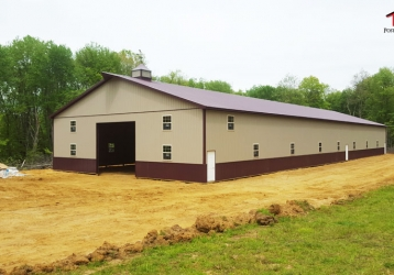 Commercial Pole Building in Millstone Township, New Jersey