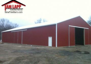 Agricultural Polebarn Building in Stewartsville, New Jersey
