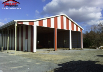 Commercial Polebarn Building in Wardensville, West Virginia