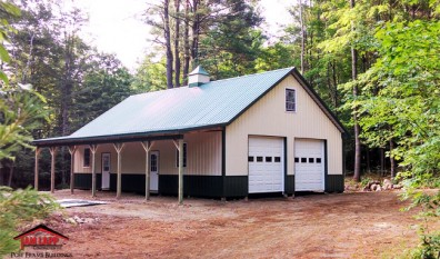 Residential Polebarn Building in Thurman, New York